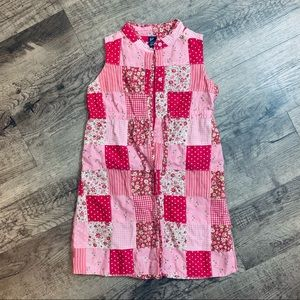 NWOT Baby Gap Pink Patchwork Cotton Lined Dress 5